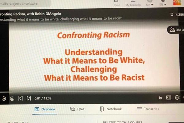 «Противостояние расизму. Понять, что значит быть белым. Осознать, что значит быть расистом»